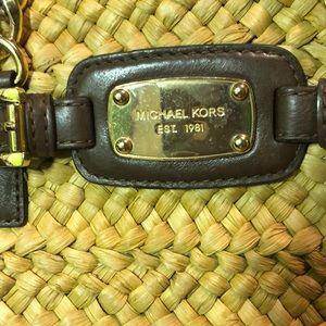 Michael Kors Hamilton large Straw Bag